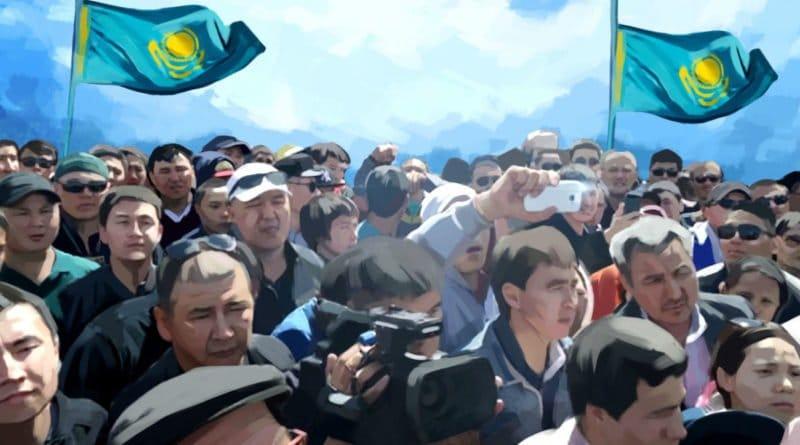 Митинг в Казахстане